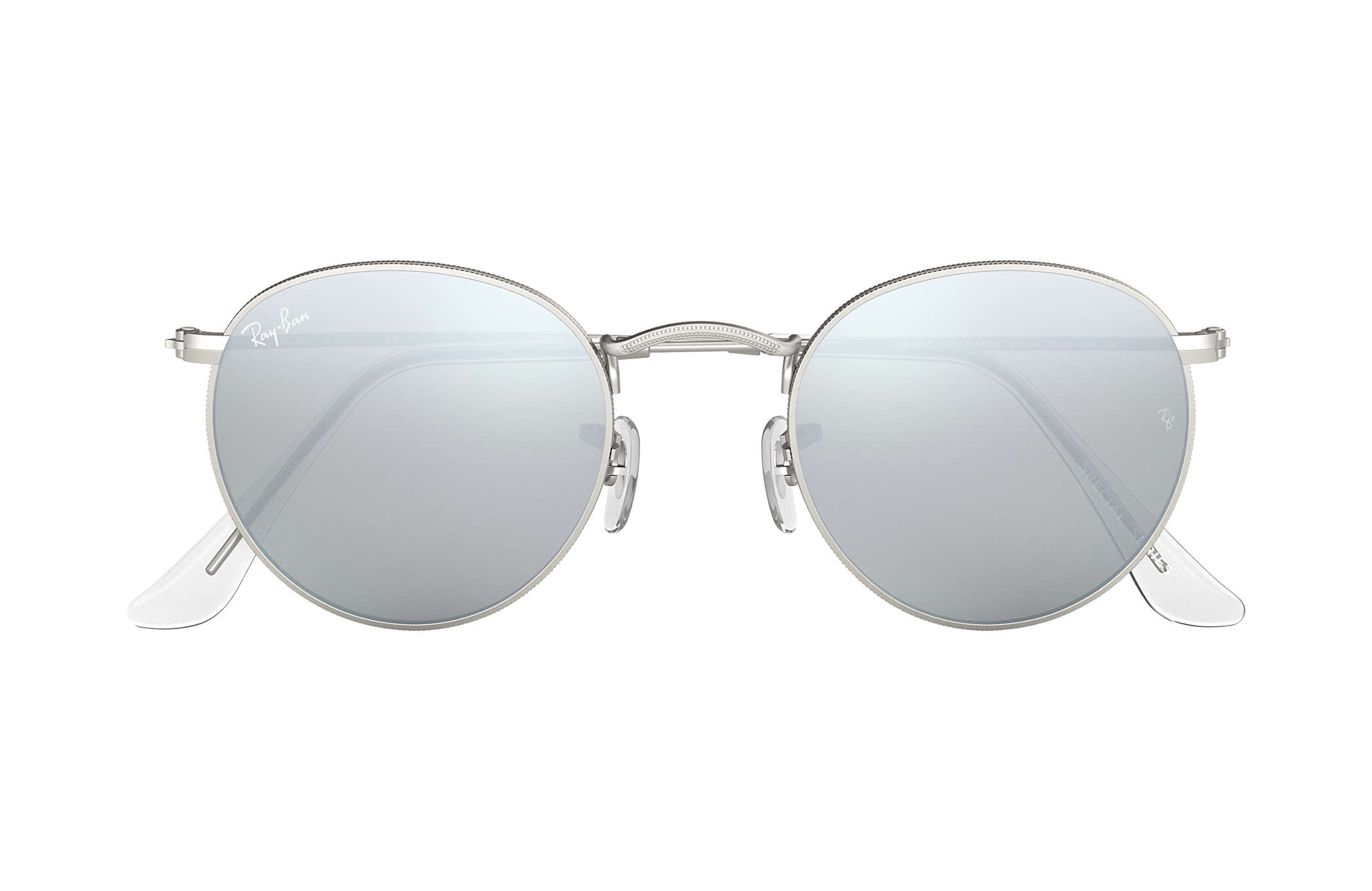 54d7d00f592 Ray-Ban Round Flash Lenses RB3447 Silver - Metal - Silver Lenses ...