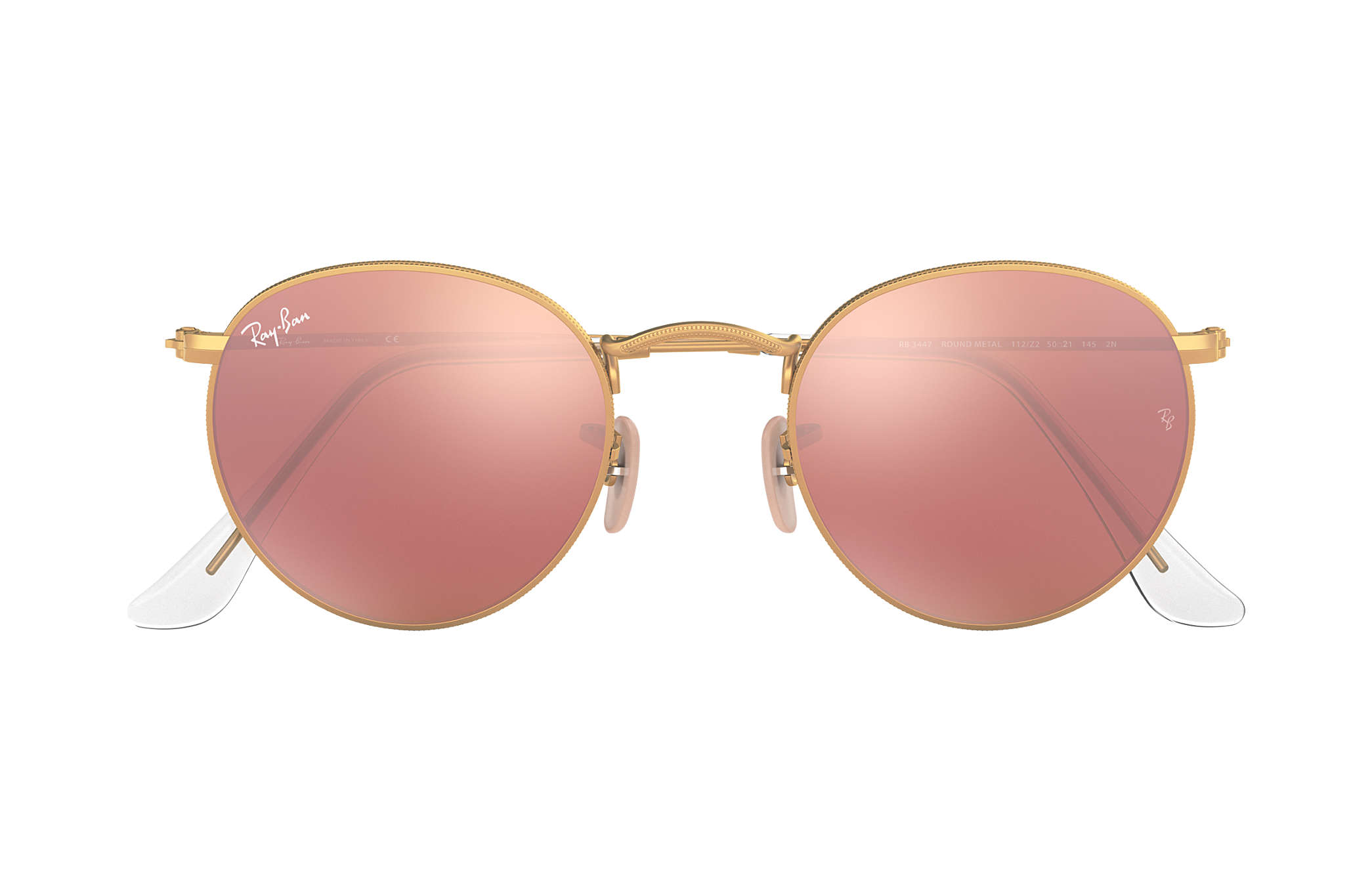 ray ban miroir rose gold