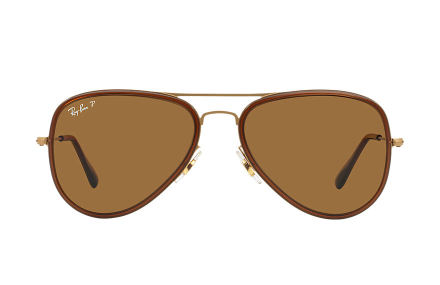 Ray-Ban  lunettes de soleil RB3513M MALE 004 aviator flat metal marron 8053672227109