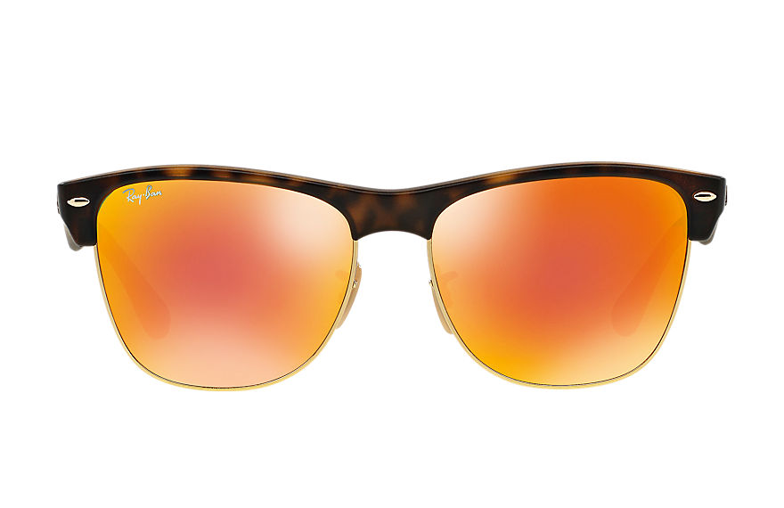 Ray-Ban  sunglasses RB4175 UNISEX 005 clubmaster oversized flash lenses 호피색 8053672228755