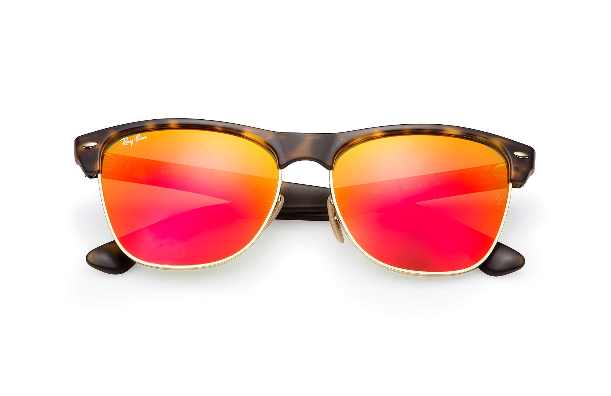 34da3f01ab0aa ... usa ray ban 0rb4175 clubmaster oversized flash lenses tortoise sun  84c29 48124