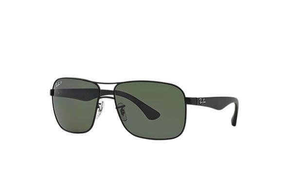 4720dd6ec2b Ray-Ban RB3516 Black - Metal - Green Polarized Lenses - 0RB3516006 ...
