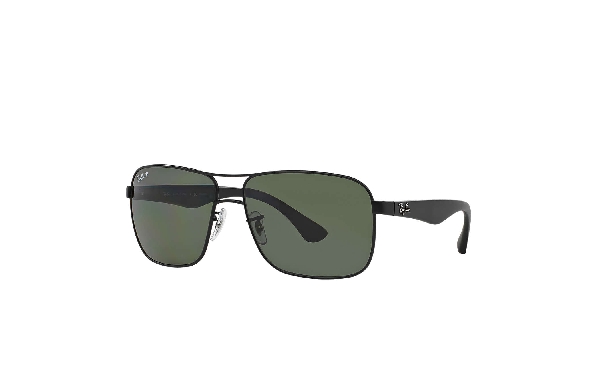 cab691f4fc4 Ray-Ban RB3516 Black - Metal - Green Polarized Lenses - 0RB3516006 ...