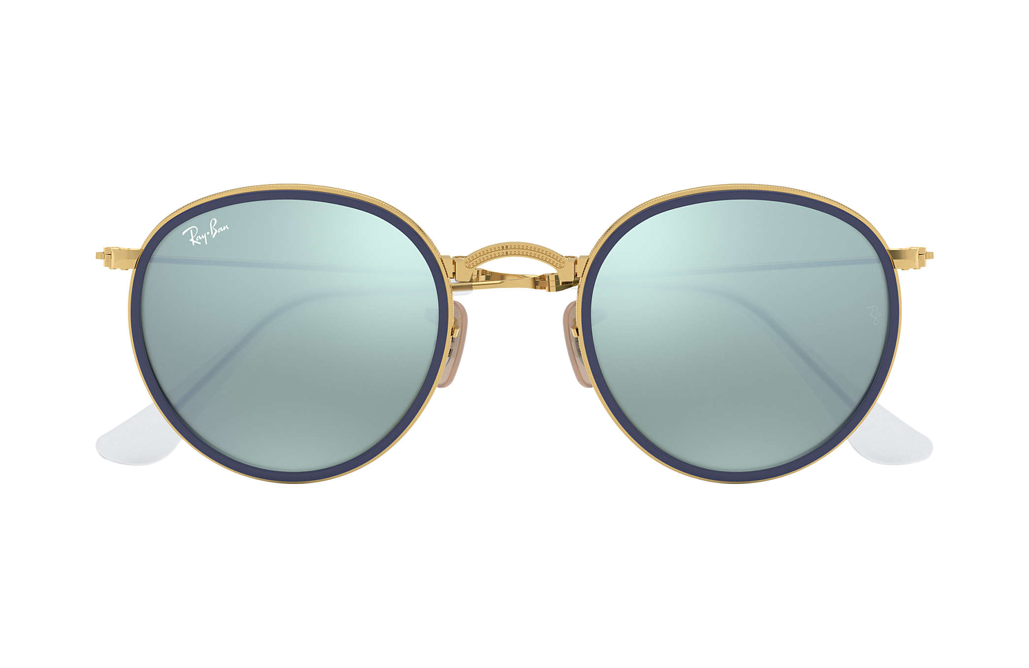 741df8dc964f6 Ray-Ban Round Folding RB3517 Gold - Metal - Silver Lenses ...
