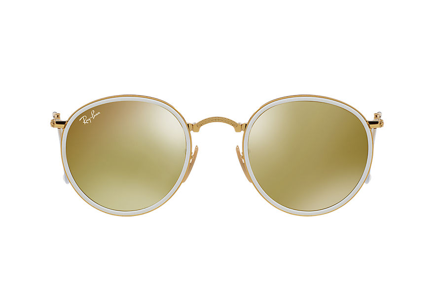 Ray-Ban  sunglasses RB3517 UNISEX 005 round folding gold 8053672233773