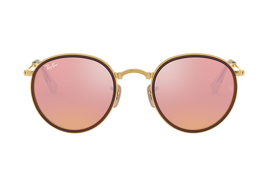 Ray-Ban  sunglasses RB3517 UNISEX 006 round opvouwbaar gold 8053672233780