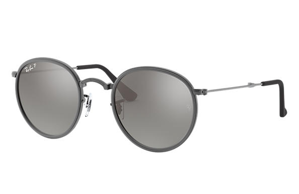 Ray-Ban 0RB3517-ROUND FOLDING Gunmetal SUN