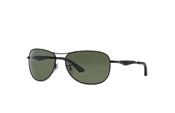 Ray-Ban RB3519 Black - Metal - Green Polarized Lenses - 0RB3519006 ... fda11141f1