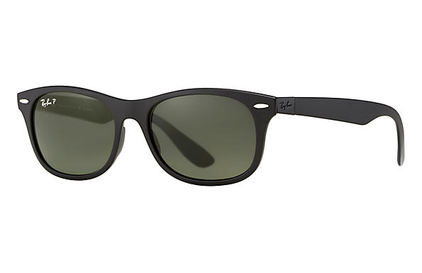 01dfdfb629 Ray-Ban New Wayfarer Liteforce RB4207 Black - Liteforce - Green Polarized  Lenses - 0RB4207601S9A55