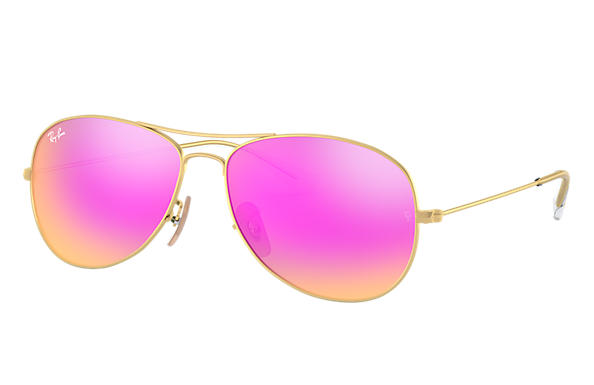 734aa277a39 Ray-Ban Cockpit RB3362 Gold - Metal - Cyclamen Lenses - 0RB3362112 4T59