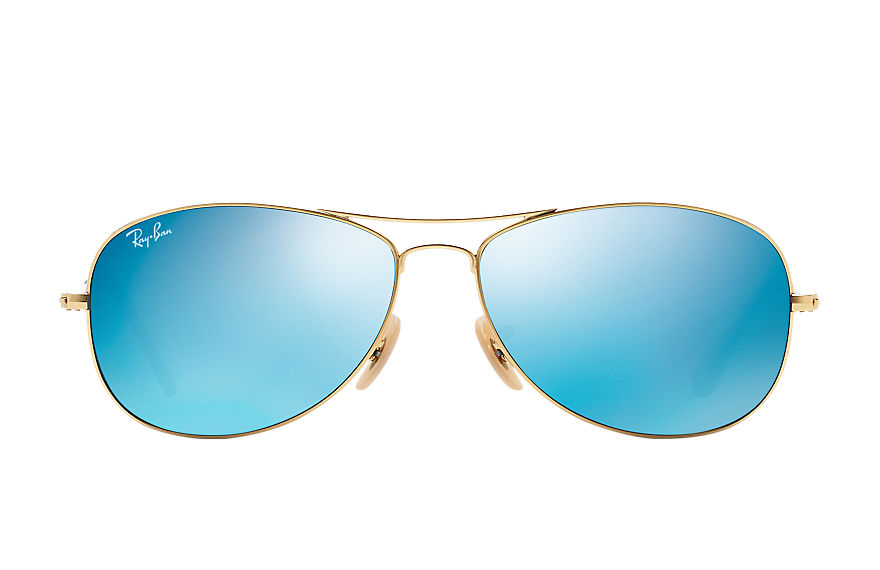 Ray-Ban COCKPIT Gold with Blue Flash lens