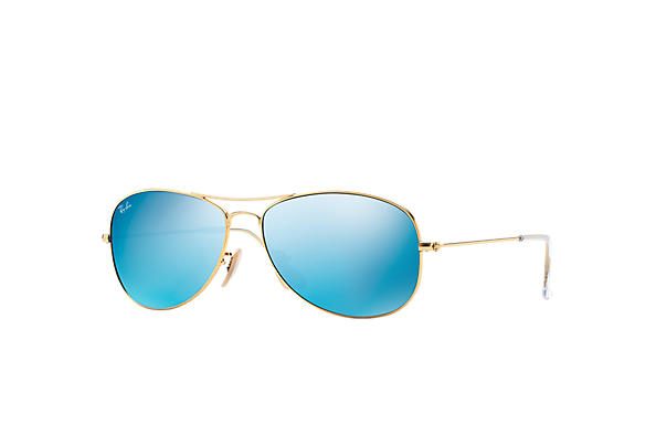 Ray-Ban Sunglasses COCKPIT Gold with Blue Flash lens