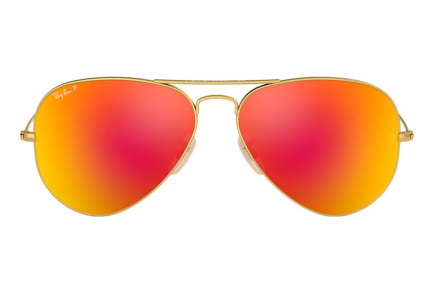 Ray-Ban  sonnenbrillen RB3025 UNISEX 066 aviator flash lenses gold 8053672256116