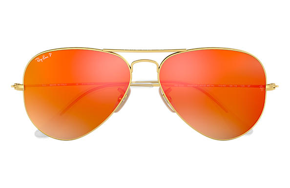 ray ban aviator flash lenses orange
