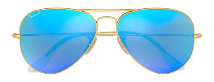 Ray-Ban AVIATOR FLASH LENSES Oro con lente Azul Flash