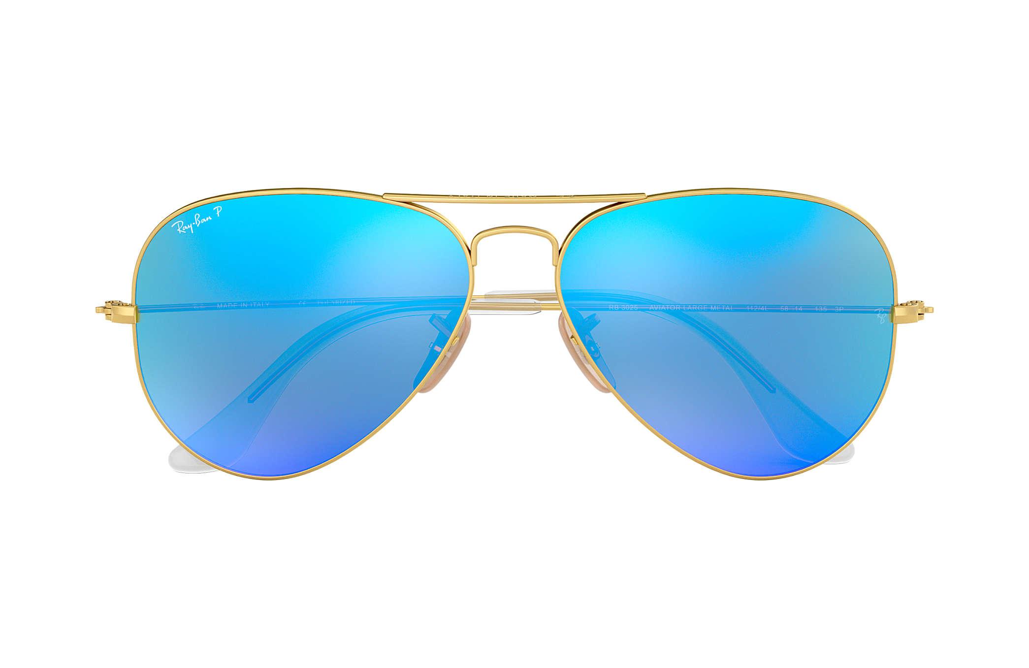 ray ban aviator flash lenses rb3025 gold metal blue polarized rh ray ban com