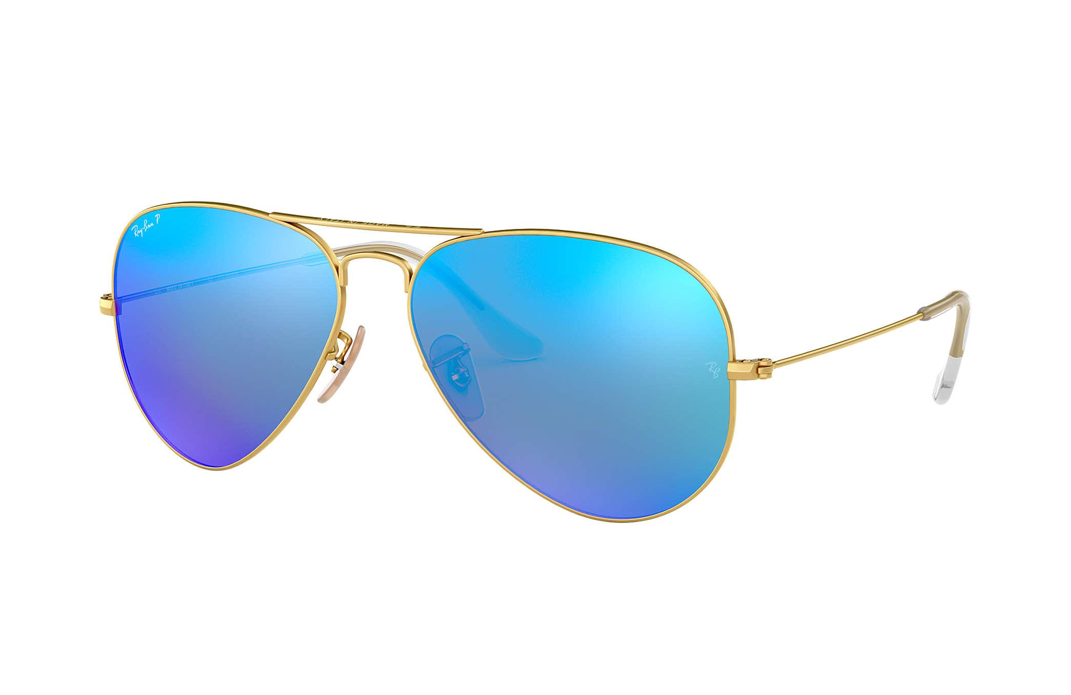 61eb3022a9bd0 Ray-Ban Aviator Espelhado RB3025 Ouro - Metal - Lentes polarizadas ...
