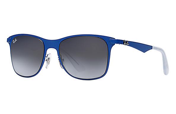 ff331581644 Ray-Ban Wayfarer Flat Metal RB3521 Blue - Metal - Grey Lenses ...