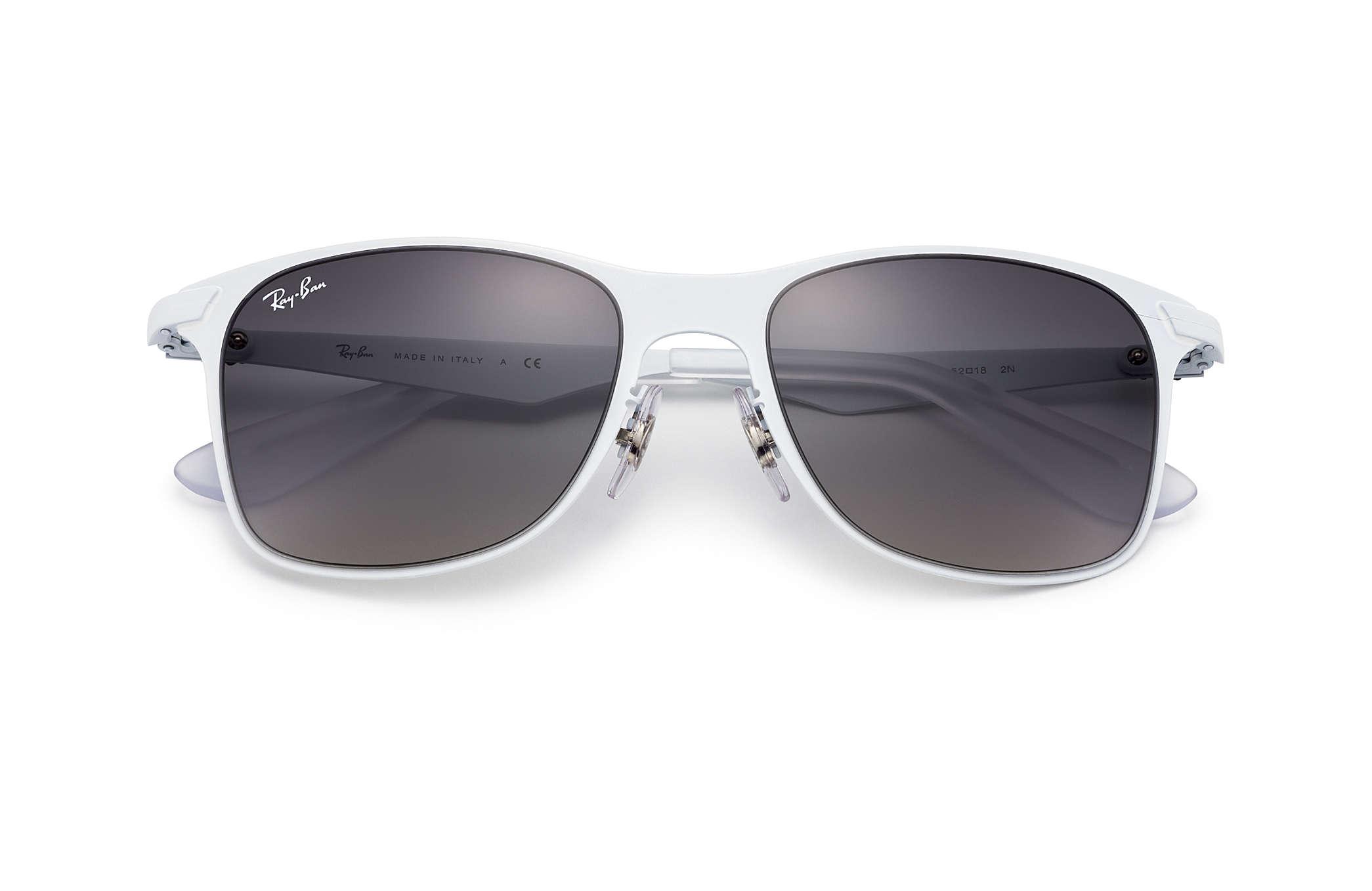 ff19172af1 Ray-Ban Wayfarer Flat Metal RB3521 White - Metal - Grey Lenses ...