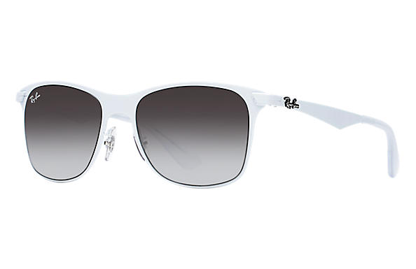 ff19172af1 Ray-Ban Wayfarer Flat Metal RB3521 White - Metal - Grey Lenses ...