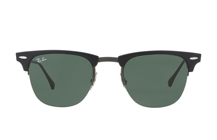 Ray-Ban		 CLUBMASTER LIGHT RAY Zwart met brillenglas Groen Klassiek