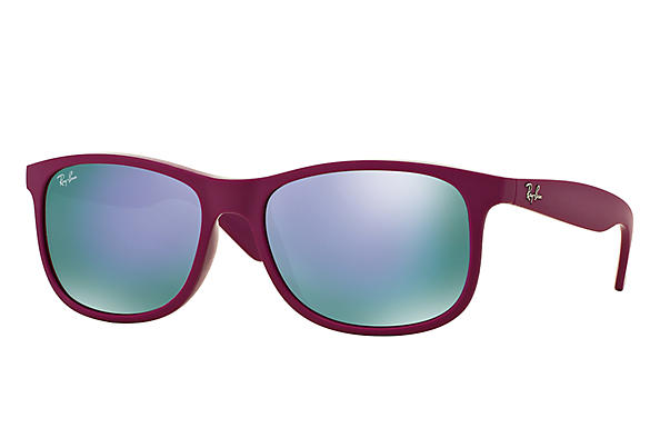 Ray-Ban Sunglasses ANDY Violet with Violet Mirror lens