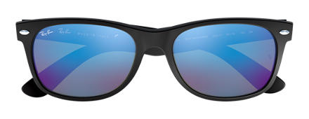 Ray-Ban NEW WAYFARER FLASH Zwart met brillenglas Blauw Flash