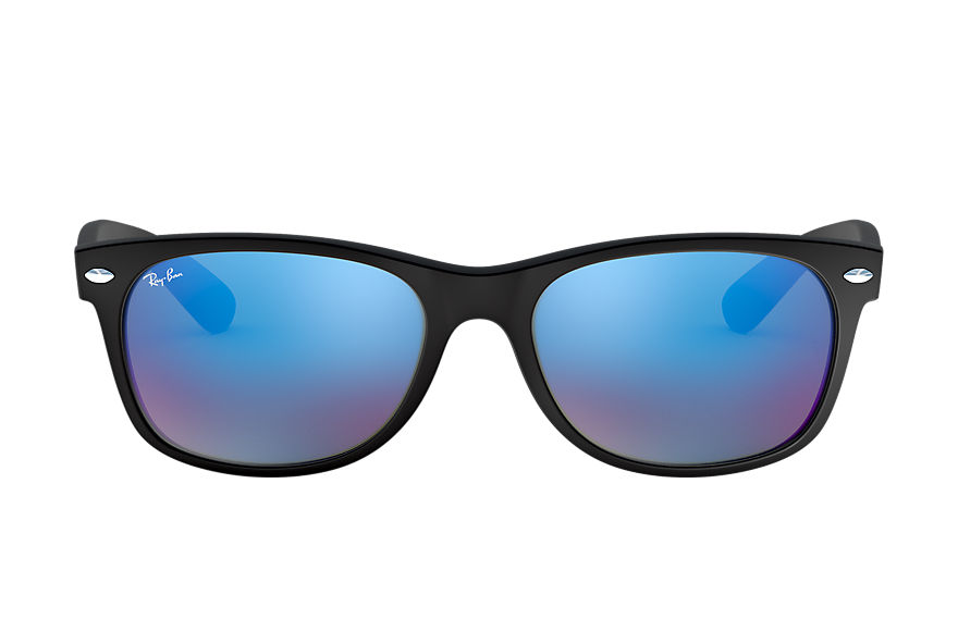 Ray-Ban NEW WAYFARER FLASH Black with Blue Flash lens