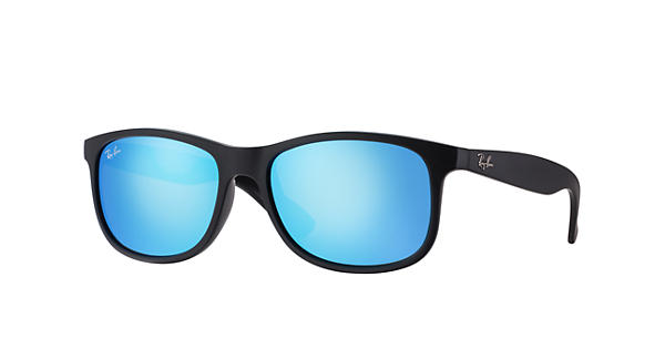 Ray ban andy black rb4202 ray ban usa for Ray ban verre bleu miroir