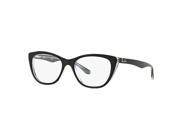 Ray-Ban 0RX5322-RB5322 Black,Transparent OPTICAL