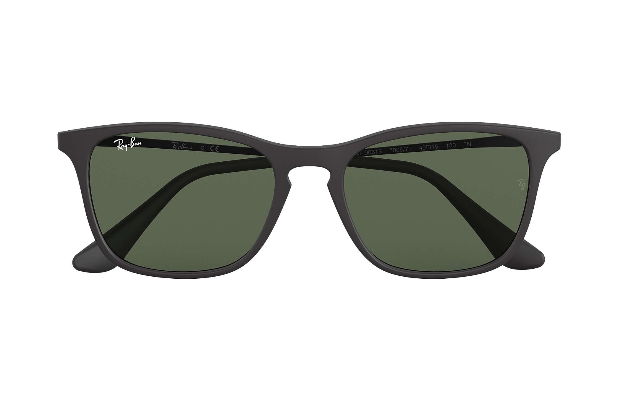 84b0562351006 Ray-Ban Chris Junior RB9061S Black - Nylon - Green Lenses ...