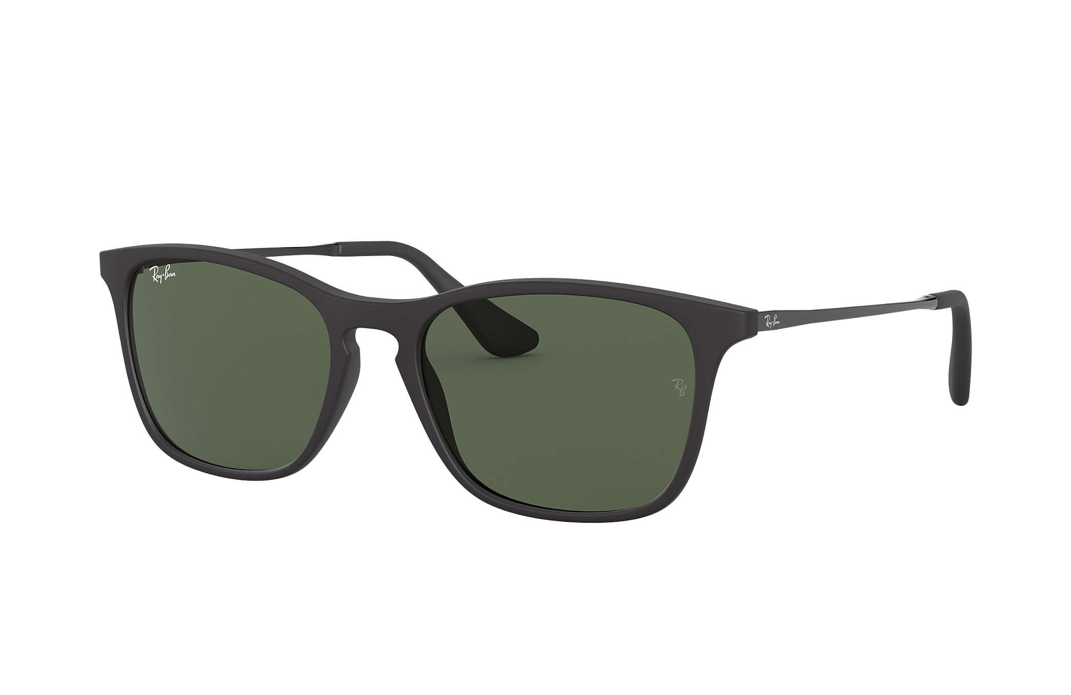 86e284d37f60e Ray-Ban Chris Junior RB9061S Preto - Nylon - Lentes Verde ...