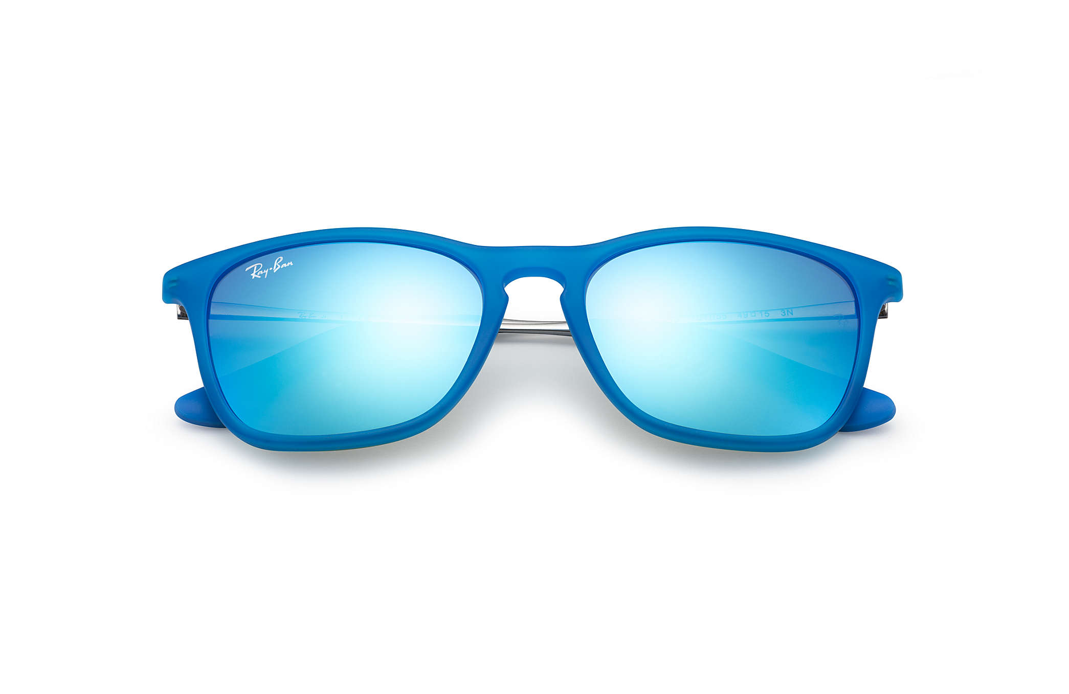 1bdcd117f32db7 Chris Junior Ray-Ban RB9061S Bleu clair - Nylon - Verres Bleu ...