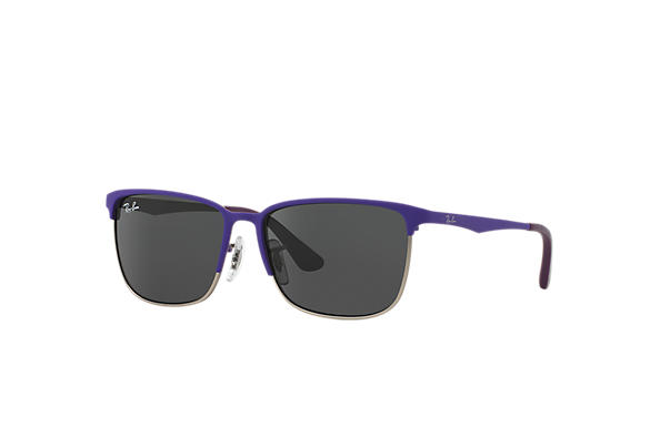 Ray-Ban RJ9535S Purple with Grey Classic lens