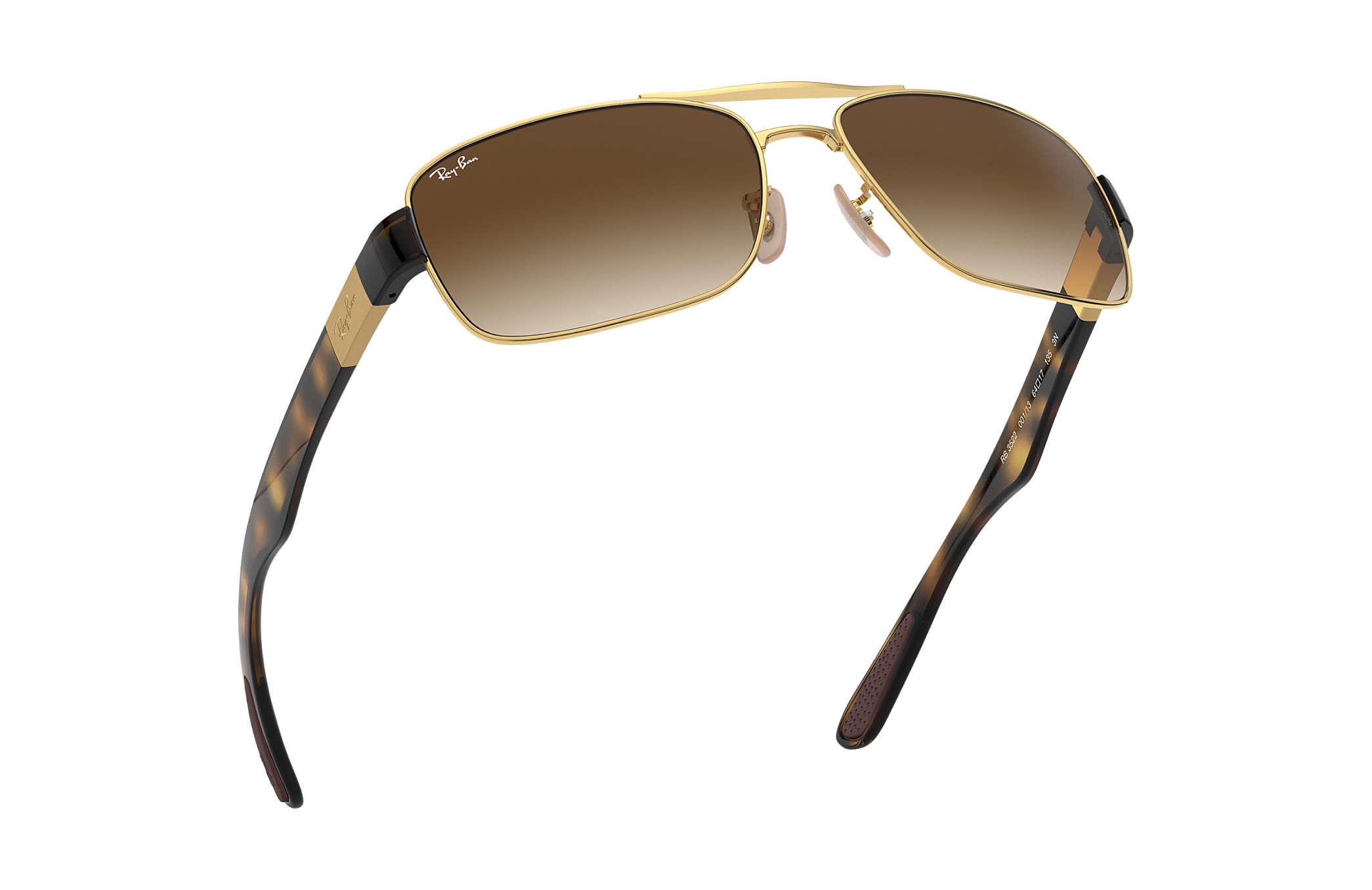 5b1e88792f Ray-Ban RB3522 Gold - Metal - Brown Lenses - 0RB3522001 1361