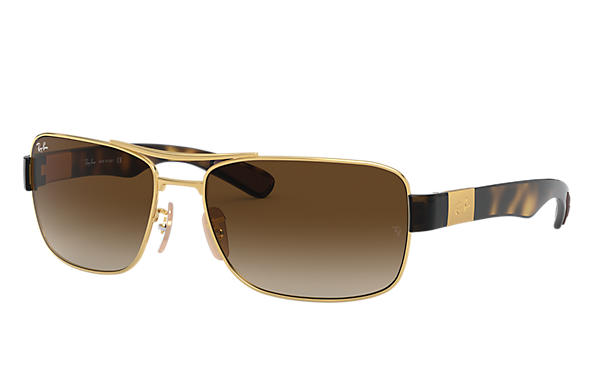 b103b1010d Ray-Ban RB3522 Gold - Metal - Brown Lenses - 0RB3522001 1361