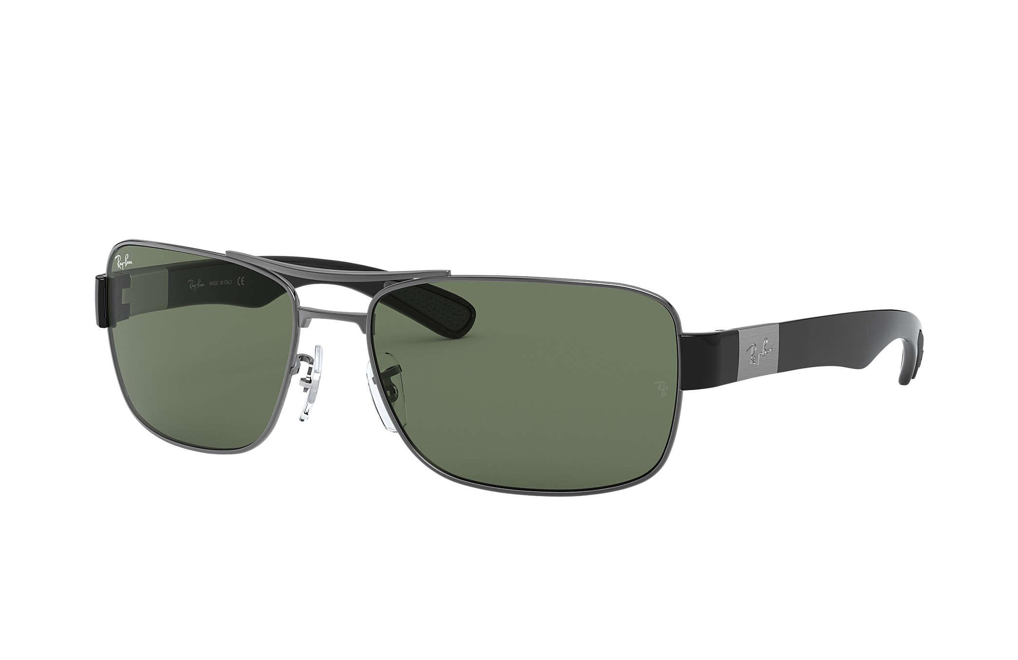 dd9e6a1183 Ray-Ban RB3522 Gunmetal - Metal - Green Lenses - 0RB3522004 7161 ...
