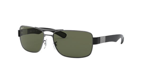 49435493e6 Ray-Ban RB3522 Gunmetal - Metal - Green Polarized Lenses - 0RB3522004 9A61