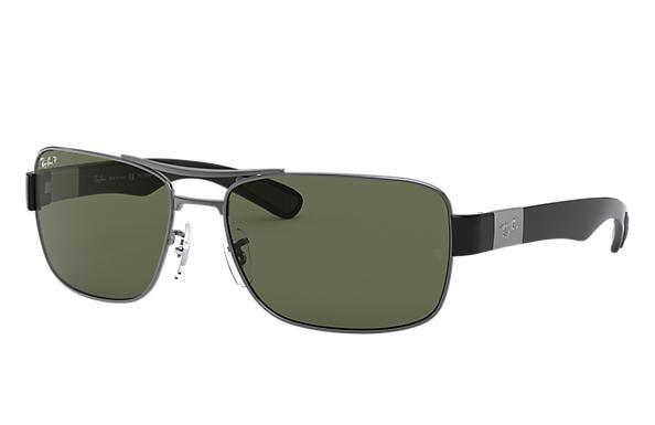 75500382d51ca Ray-Ban Rb3522 RB3522 Chumbo - Metal - Lentes polarizadas Verde ...