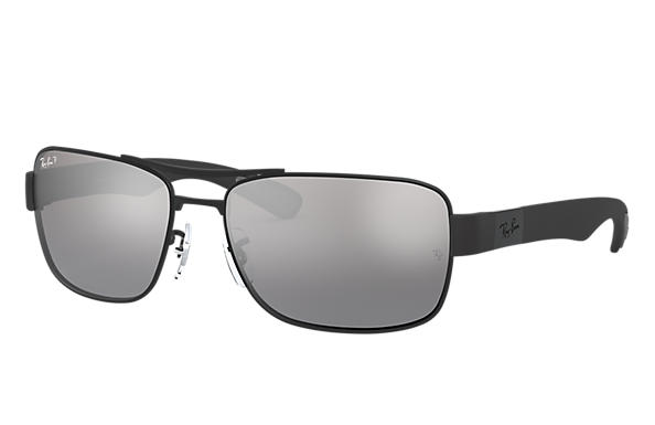 ca885500a1 Ray-Ban RB3522 Black - Metal - Silver Polarized Lenses - 0RB3522006 ...