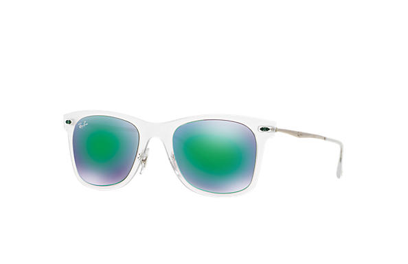 Ray-Ban Sunglasses WAYFARER LIGHT RAY Transparent with Green Mirror lens