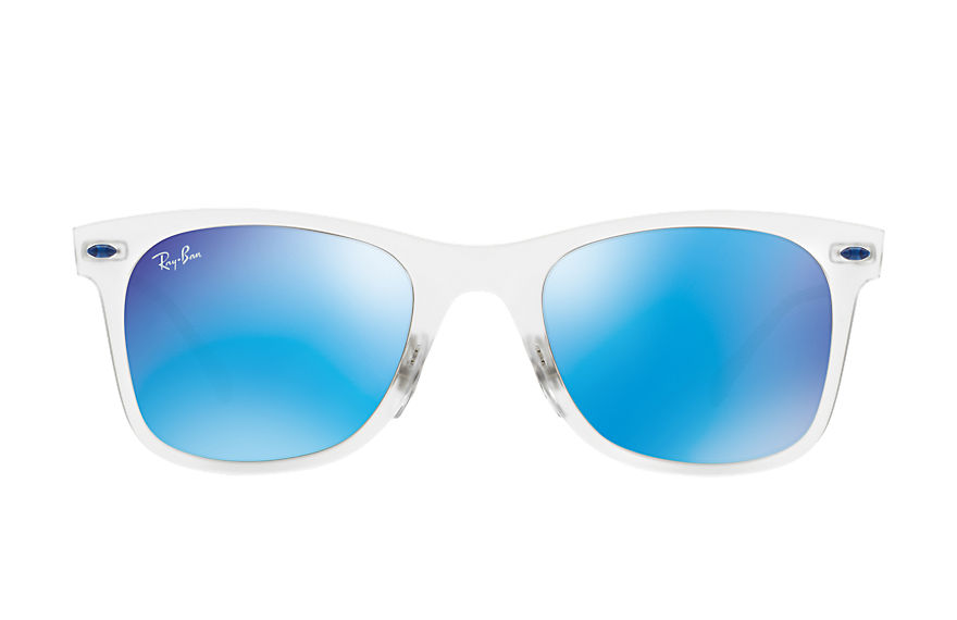 Ray-Ban WAYFARER LIGHT-RAY Transparent mit Blau Verspiegelt Gläsern