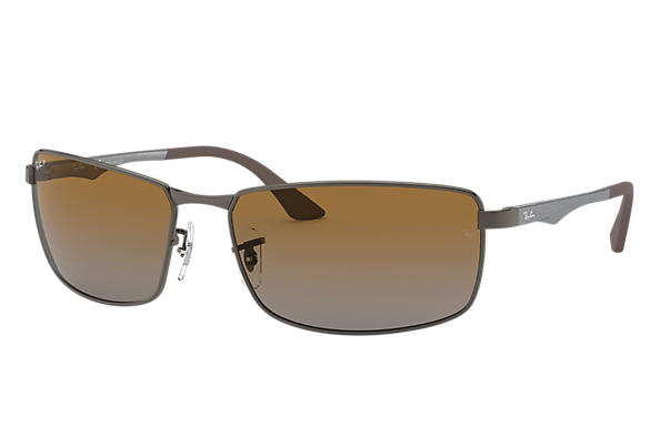 c1f757af51e Ray-Ban RB3498 Gunmetal - Metal - Brown Polarized Lenses ...