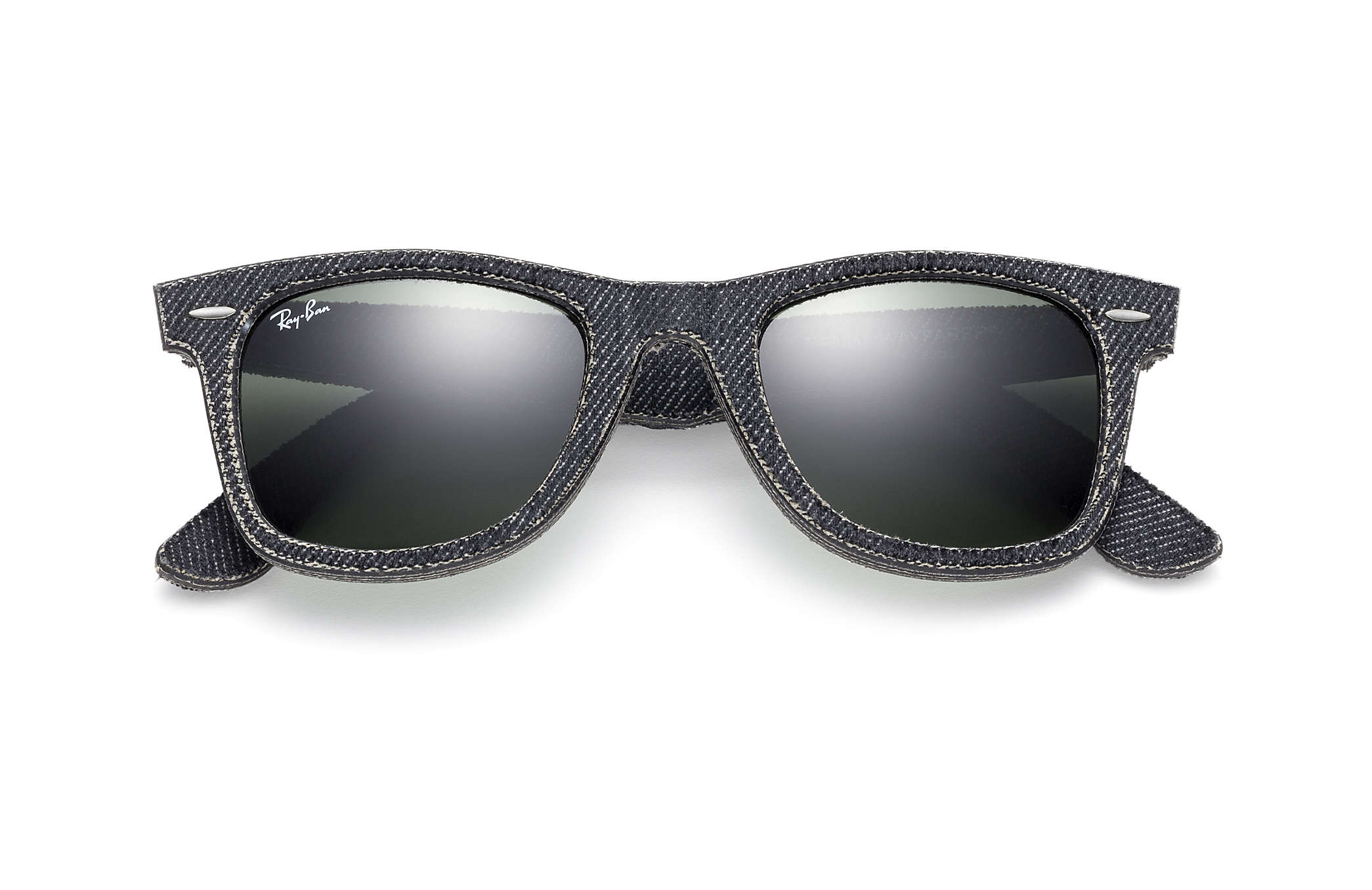 41108ab6cb Ray-Ban Original Wayfarer Denim RB2140 Black Denim - Acetate - Green ...