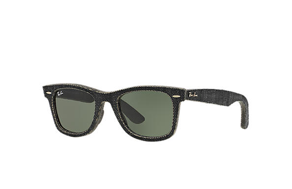 Ray-Ban 0RB2140-ORIGINAL WAYFARER DENIM Black Denim,Nero; Nero SUN