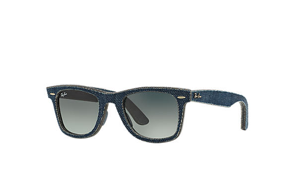 Ray-Ban Original Wayfarer Denim RB2140 Blue Denim - Acetate - Grey ... 544d24963d