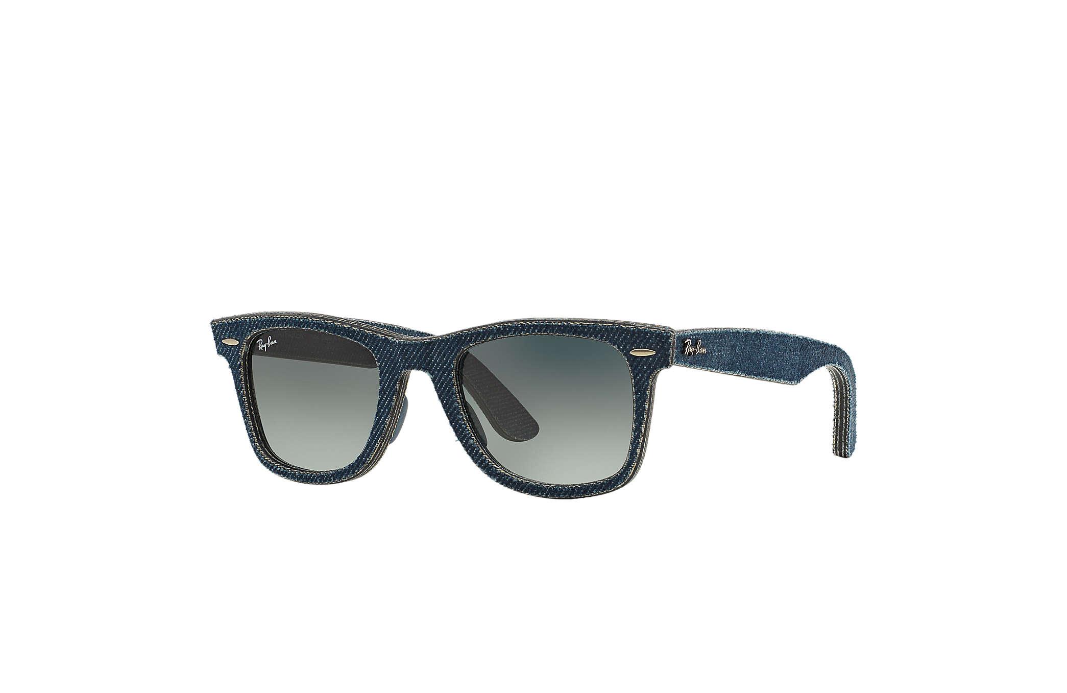 3f31ad21f Ray-Ban ORIGINAL WAYFARER DENIM Jeans azul com Cinzento Degradê lentes