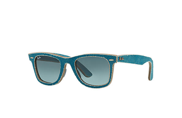Ray-Ban 0RB2140-ORIGINAL WAYFARER DENIM Light Blue Denim,Azzurro; Azzurro SUN