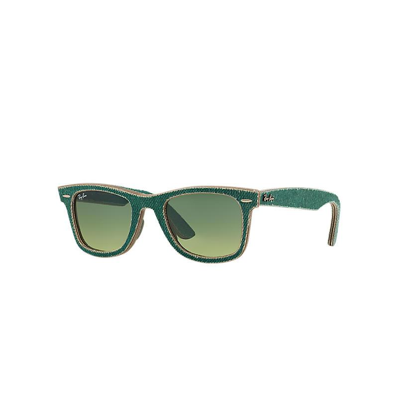 Ray-Ban Original Wayfarer Denim Green Sunglasses, Green