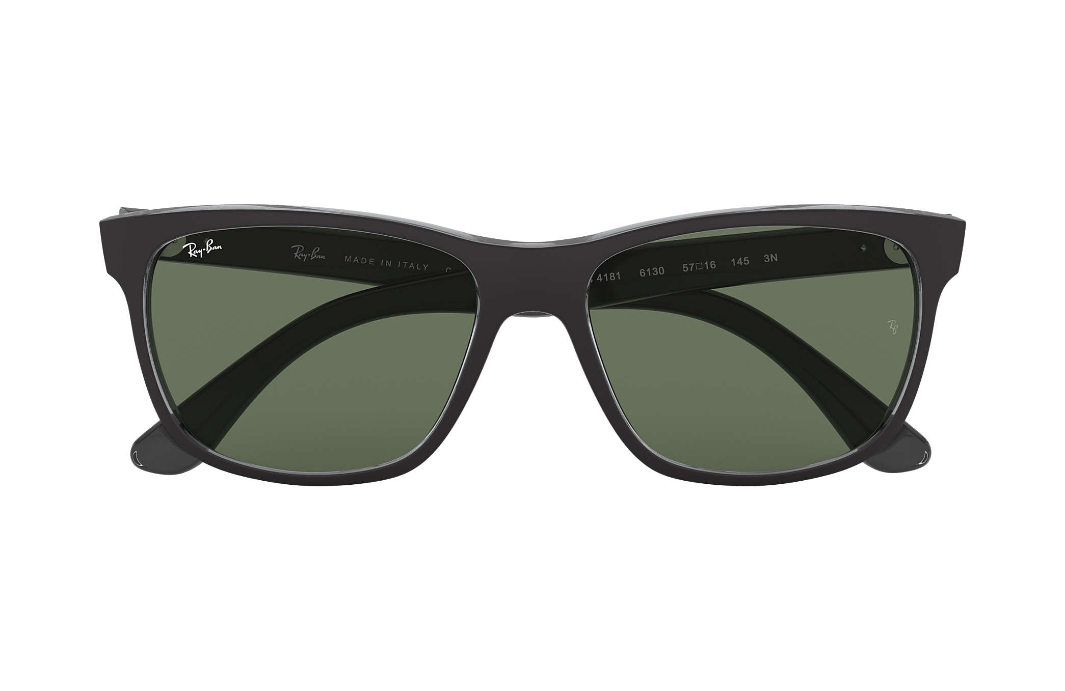 009fb3c66d8a Ray-Ban RB4181 Black - Nylon - Green Lenses - 0RB4181613057